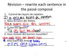 r vision rewrite each sentence in the pass compos