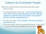 called to be eucharistic people