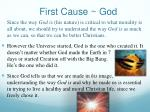 first cause god