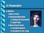 ii playwrights