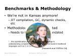 benchmarks methodology