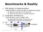 benchmarks reality