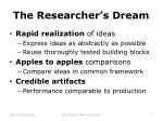 the researcher s dream