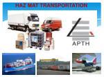 haz mat transportation