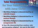 take responsibility for your relationship with jesus christ1