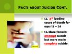 facts about suicide cont