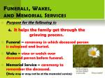 funerals wakes and memorial services