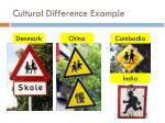 cultural difference example