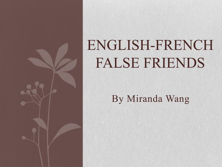 english french false friends n.