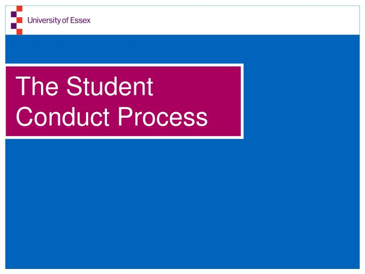 the student conduct process n.