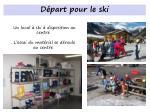 d part pour le ski
