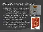 items used during eucharist