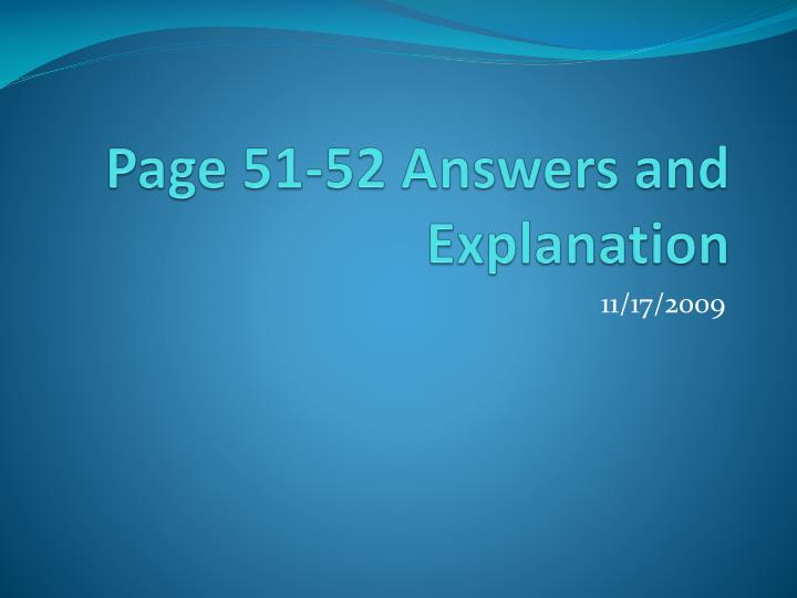 page 51 52 answers and explanation n.
