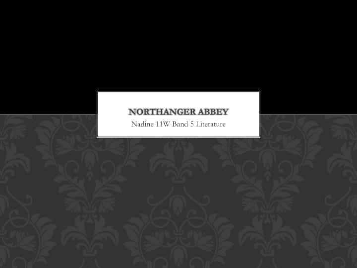 northanger abbey n.