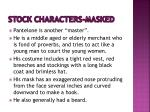 stock characters masked1