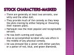 stock characters masked3