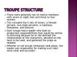 troupe structure