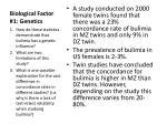 biological factor 1 genetics