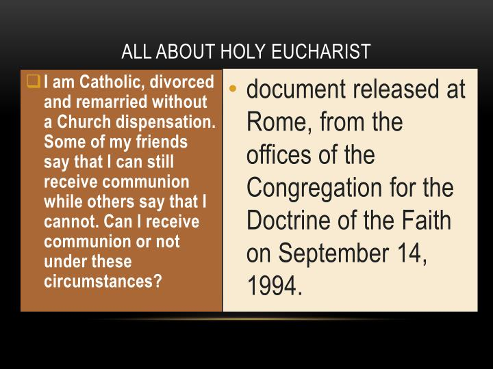 PPT - ALL ABOUT HOLY eucharist PowerPoint Presentation - ID:2191519
