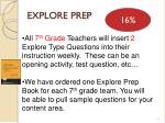 explore prep