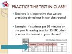 practice time test in class