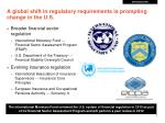 a global shift in regulatory requirements is prompting change in the u s