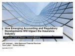 how emerging accounting and regulatory developments will impact the insurance industry