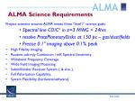 alma science requirements
