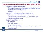 development items for alma 2010 2020