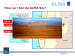 how can i find the alma site