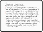 defining listening