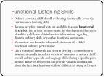 functional listening skills
