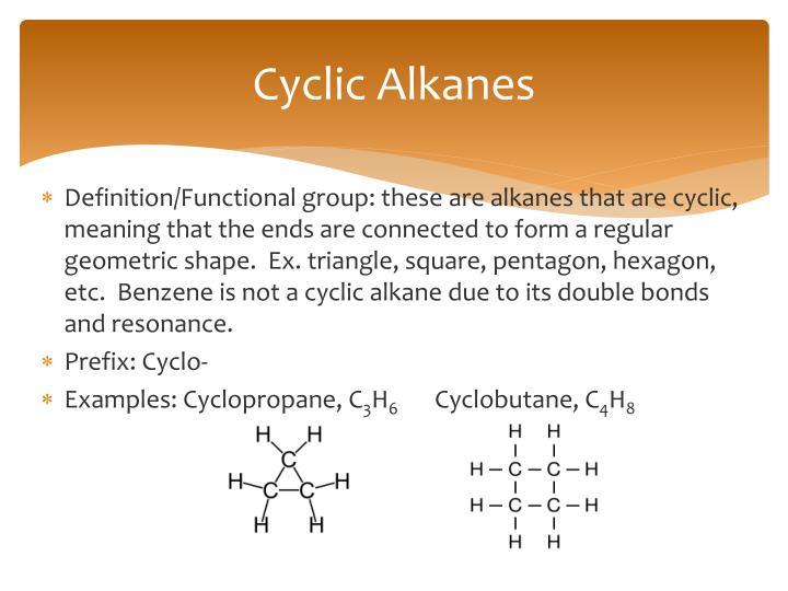 Cyclic Alkanes