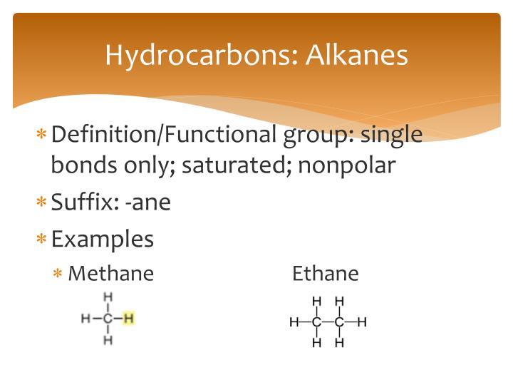 Hydrocarbons: Alkanes