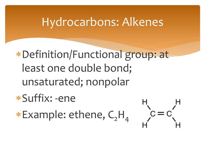 Hydrocarbons: Alkenes