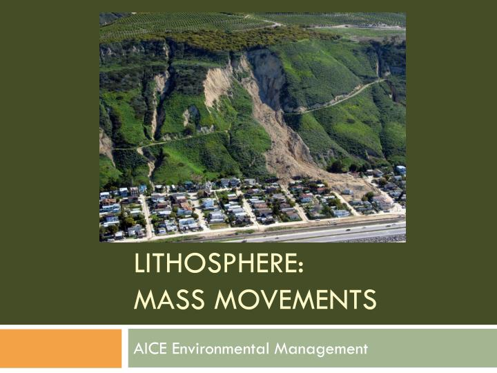 lithosphere mass movements n.