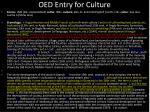 oed entry for culture
