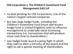 csx corporation v the children s investment fund management uk llp