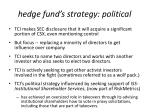 hedge fund s strategy political