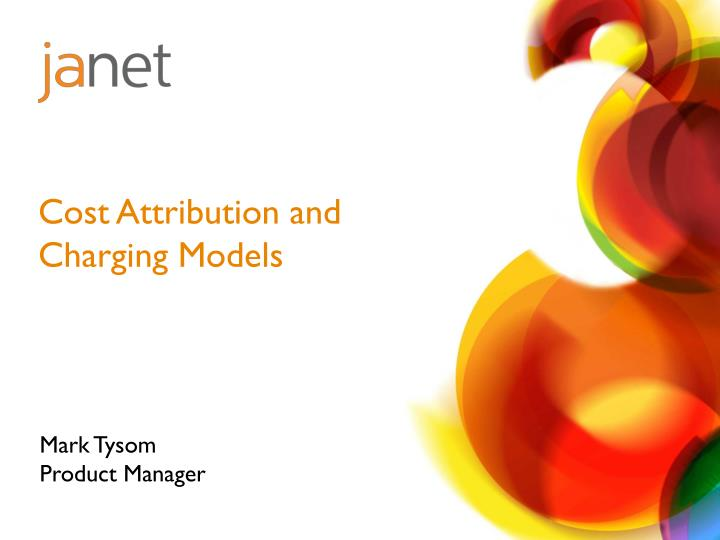 cost attribution and charging models n.