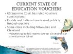current state of education vouchers