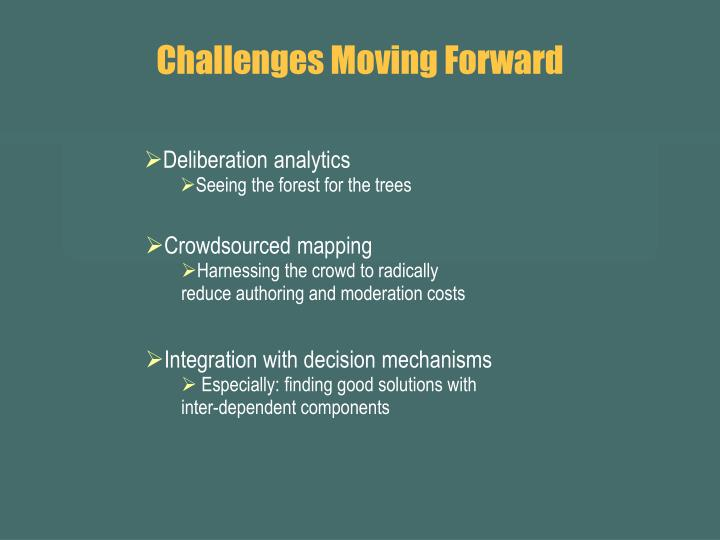 Challenges Moving Forward