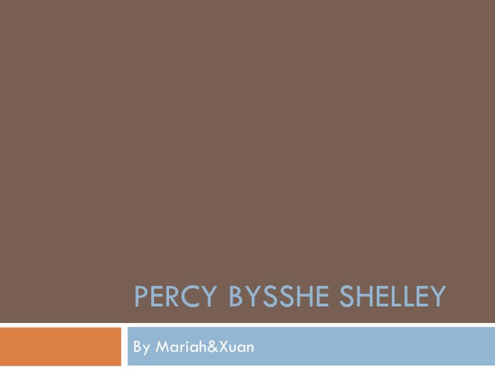 percy bysshe shelley n.