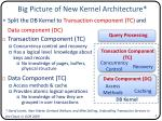 big picture of new kernel architecture
