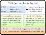challenge key range locking