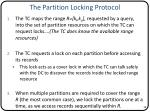 the partition locking protocol
