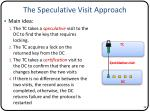 the speculative visit approach