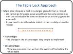 the table lock approach