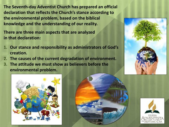 The Seventh-day Adventist Church has prepared an official declaration that reflects the Church's s...