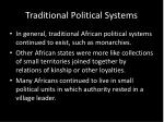 traditional political systems